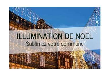 Illumination de noel pour commune